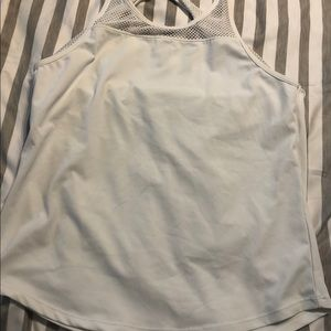 Fabletic White Open back tank